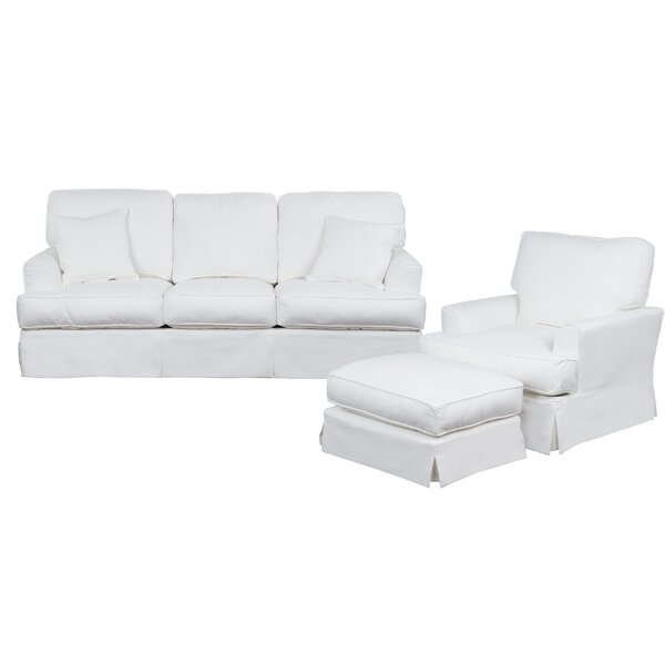 Elenora 3 Piece Slipcovered Living Room Set by Highland Dunes