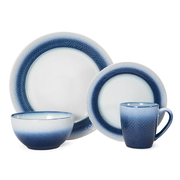 Eclipse Blue 16-Piece Dinnerware Set, Service for 4 by Pfaltzgraff