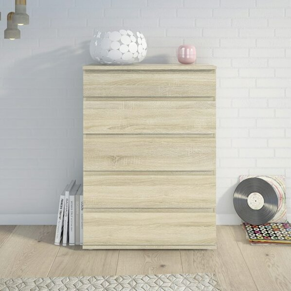 Karev 5 Drawer Wood Chest by Zipcode Design