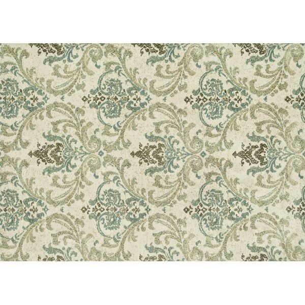 Keiper Beige/Green Area Rug by Alcott Hill