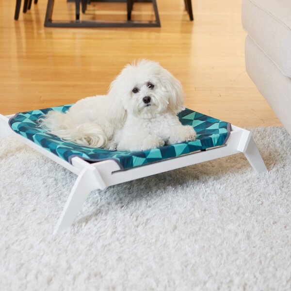 Triangles Designer Pet Lounge Cot with Reversible Fabric Hammock by Primetime Petz
