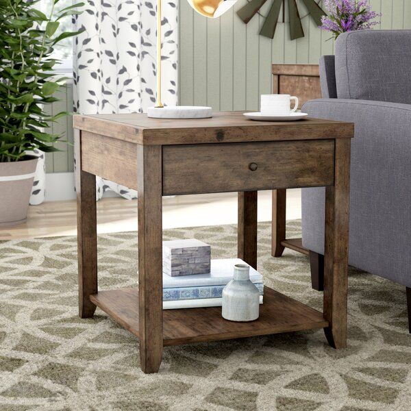 Chisholm End Table by Gracie Oaks