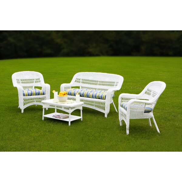 Ray 4 Piece Sofa Seating Group with Cushions by Alcott Hill
