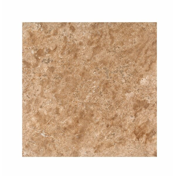 18 x 18 Travertine Field Tile in Light Walnut Honed by Parvatile