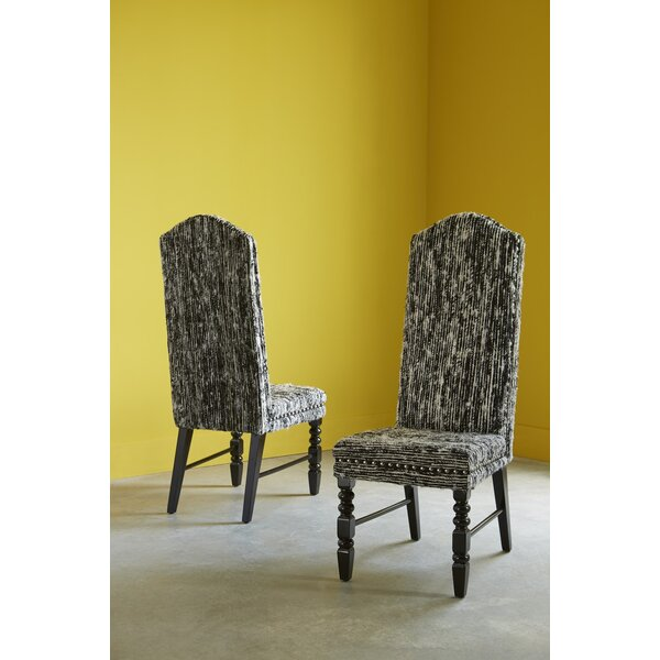 Viscose Upholstered Solid Back Side Chair in Black by Phillips Collection Phillips Collection