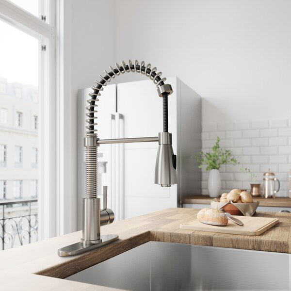 Weston Pull Out Single Handle Kitchen Faucet by VIGO