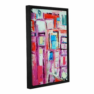 Angles Framed Painting Print on Wrapped Canvas by Ivy Bronx