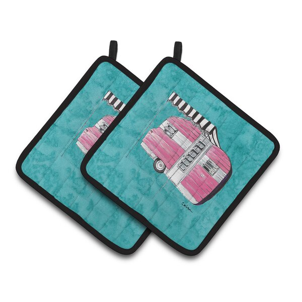 Welcome to the Trailer Potholder (Set of 2) by Caroline's Treasures