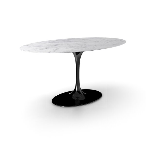 Larkson Carrera Marble Oval Dining Table by Langley Street