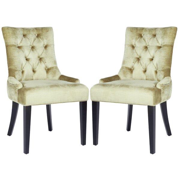 Reynesford Velvet Side Chair (Set of 2) by Charlton Home