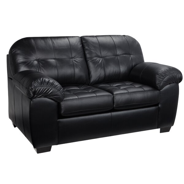Superb 1 Bellamy Leather Loveseat By Red Barrel Studio New On Machost Co Dining Chair Design Ideas Machostcouk