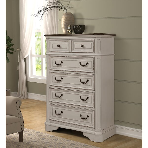 Lilia Oak Wood 6 Drawer Chest by One Allium Way