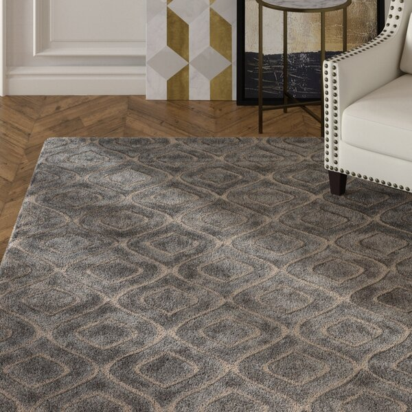 Buntingford Hand-Tufted Smoke Area Rug by Mercer41