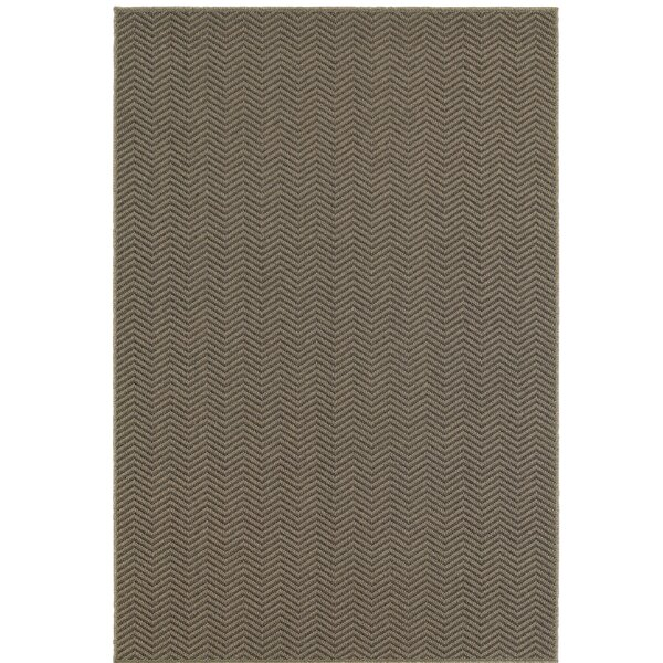 Carrow Gray Indoor/Outdoor Area Rug by Charlton Home