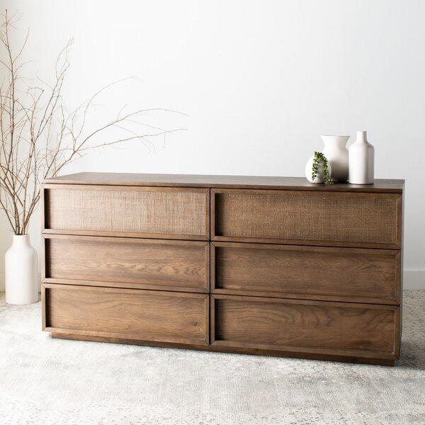 Imogen 6 Drawer Wood Standard Dresser by Union Rustic