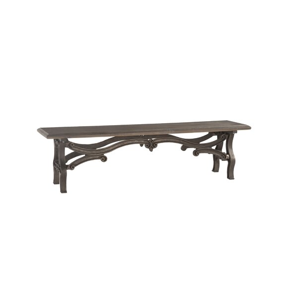 Perrysburg Weathered Wood Bench by Fleur De Lis Living