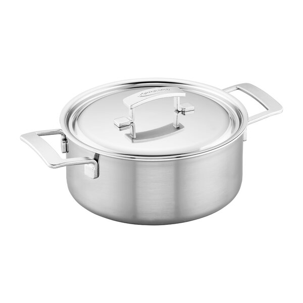 Industry 5.5 Qt. Stainless Steel Round Dutch Oven by Demeyere