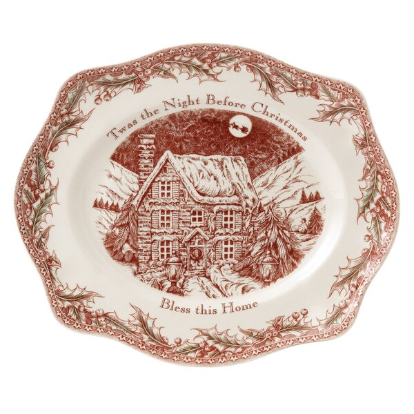 Twas the Night Serving Round Plate by Johnson Brothers