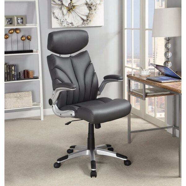Kedzie Designer Leather Executive Chair by Ebern Designs