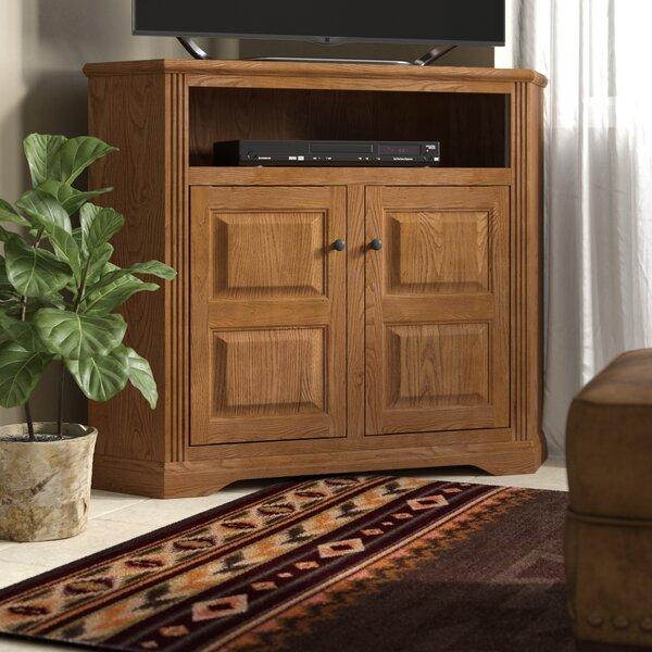 Glastonbury Solid Wood Corner TV Stand For TVs Up To 55