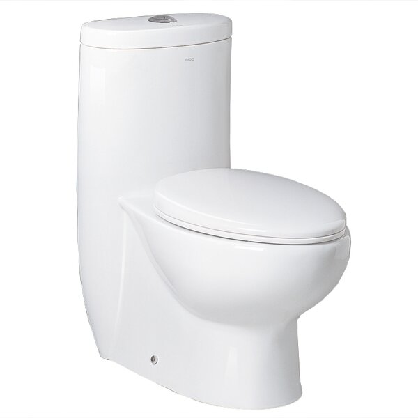 Hermes Contemporary Dual Flush Elongated One-Piece Toilet by Ariel Bath