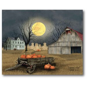 'Harvest Moon' Graphic Art Print on Canvas by The Holiday Aisle