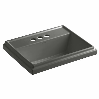 Drop Sink Ceramic Rectangular Overflow Thunder Faucetet photo