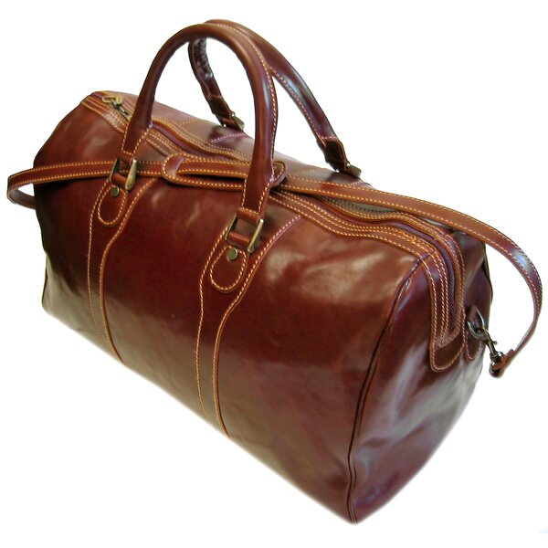 Milano 20 Leather Travel Duffel by Floto Imports