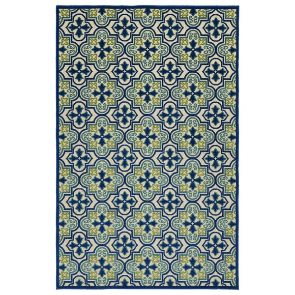 Meriden Hand-Woven Blue Indoor/Outdoor Area Rug by Andover Mills