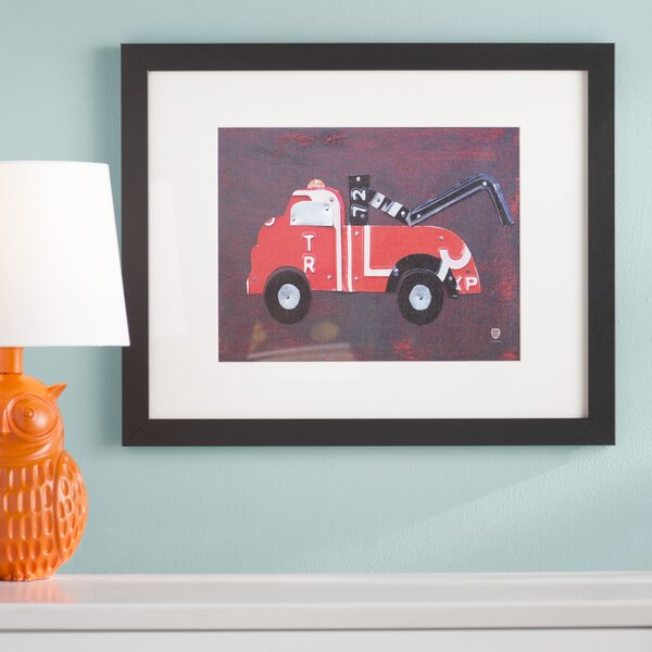 Tow Truck by Design Turnpike Framed Art by Viv + Rae