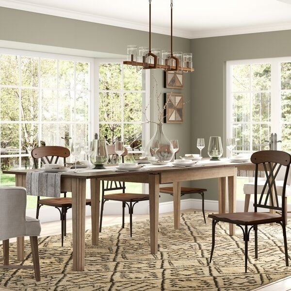 Huerfano Valley Extendable Solid Wood Dining Table by Loon Peak Loon Peak®
