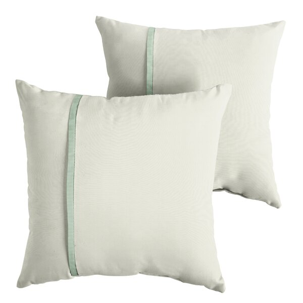 Forster Indoor/Outdoor Sunbrella Throw Pillow (Set of 2) by Charlton Home