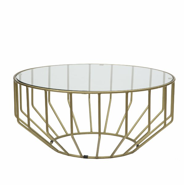 Singer Glass Round Coffee Table by Everly Quinn