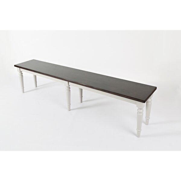 Hickerson Wood Bench by Alcott Hill Alcott Hill