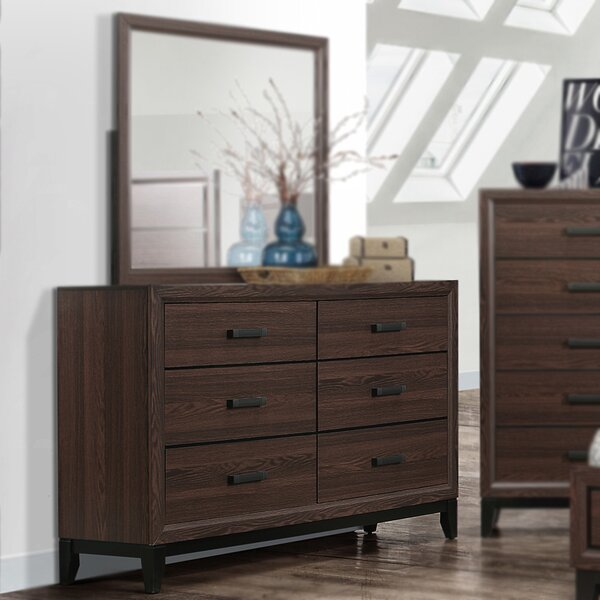 Downing 6 Drawer Double Dresser by Union Rustic