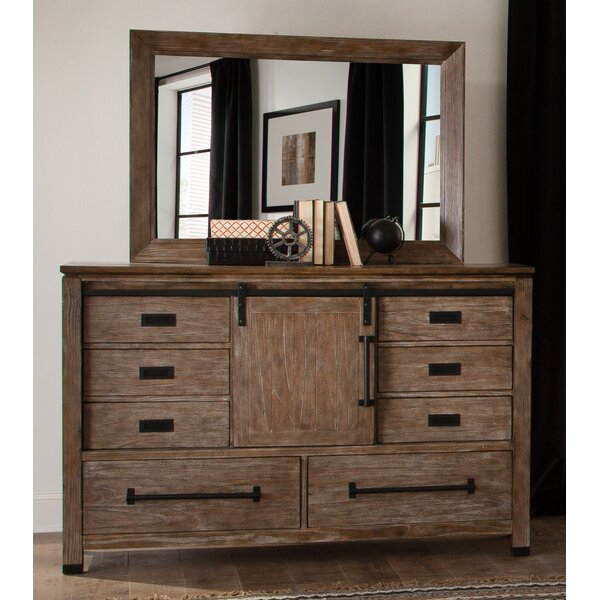 Stimpson 8 Drawer Combo Dresser with Mirror by Gracie Oaks