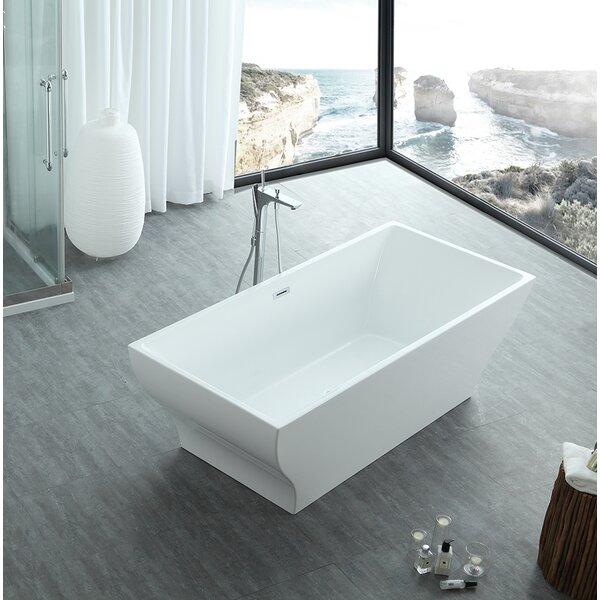 Hera 71 x 32 Freestanding Soaking Bathtub by Eisen Home