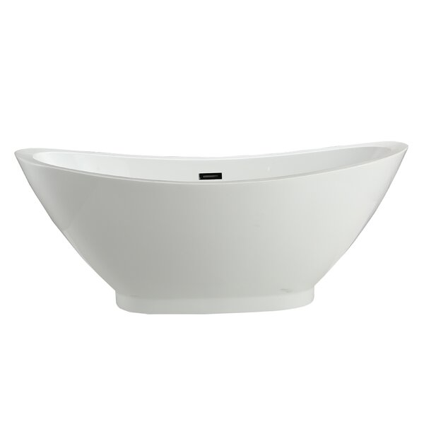 Cassia 69 x 33.5 Soaking Bathtub by Vinnova