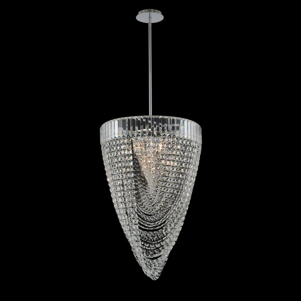 Keyes 12-Light Unique / Statement Geometric Chandelier By House Of Hampton