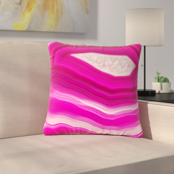 Cafelab Bold Agate Outdoor Throw Pillow by East Urban Home