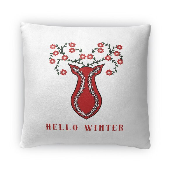 Hello Winter Outdoor Throw Pillow by The Holiday Aisle