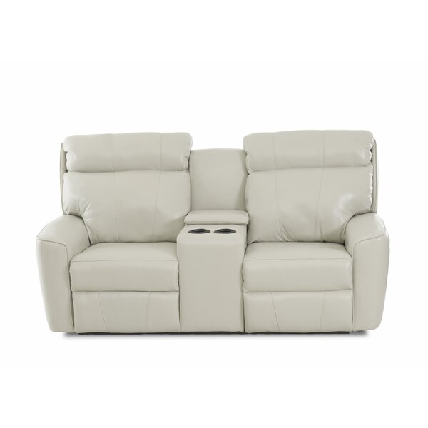 Chau Solid Power Reclining Loveseat with Console by Red Barrel Studio Red Barrel Studio