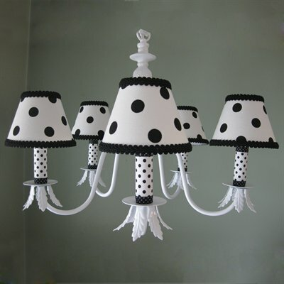 Dottie 5 - Light Shaded Classic / Traditional Chandelier by Silly Bear Lighting Silly Bear Lighting