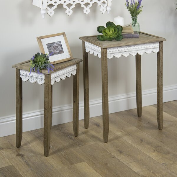 Review Brantley 2 Piece Nesting Tables