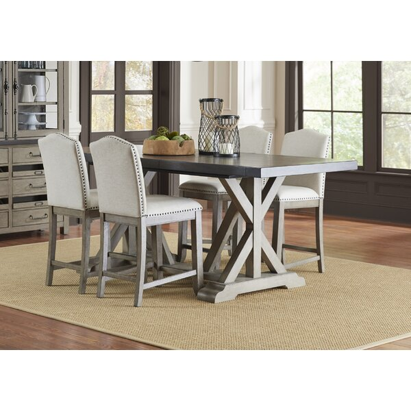 Arballo 5 Piece Counter Height Extendable Dining Set by One Allium Way