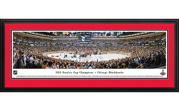 NHL 2013 Stanley Cup Champions - Chicago Blackhawks Deluxe Framed Photographic Print by Blakeway Worldwide Panoramas, Inc