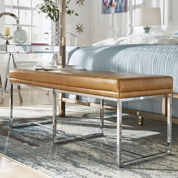Fadrique Solid Metal Bedroom Bench by Willa Arlo Interiors