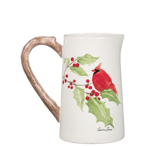Maurice Cardinal 5 oz. Pitcher by The Holiday Aisle