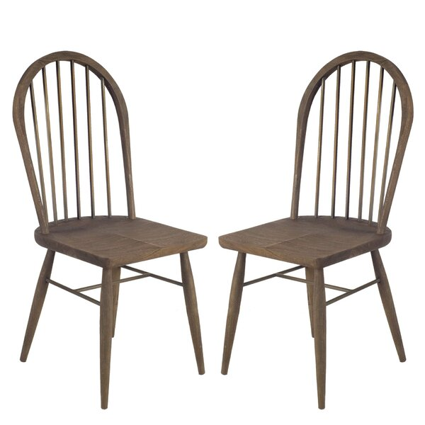Isolda Solid Wood Dining Chair (Set Of 2) By Gracie Oaks