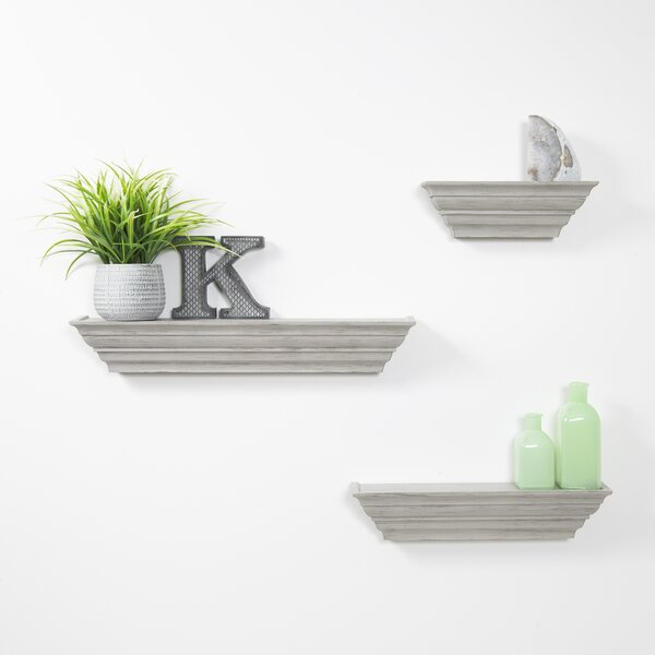 Horley Ledge 3 Piece Wall Shelf Set by Highland Dunes